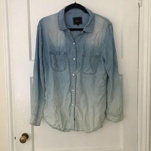 RAILS Carter ombre denim chambray shirt blouse top
